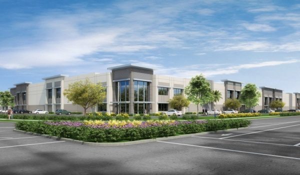 Five buildings, Phase 4 of the Meridian Business Park along Interstate 215 in Riverside, represent the nation's third-largest industrial development under construction, at 1,990,880 square feet, according to Commercial Cafe. (Courtesy of Lee & Associates)